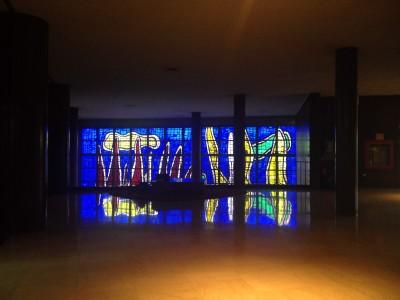 Vitral de Fernand Leger. Biblioteca Central UCV